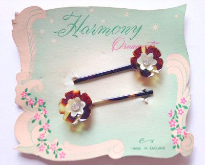 Pair of Vintage Barrettes