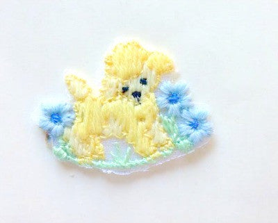 1950's puppy with flowers motif - Accessories Of Old
