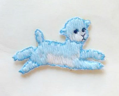 1950s baby leaping puppy motif - Accessories Of Old