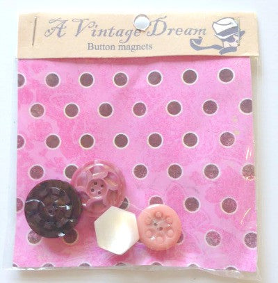 Vintage hand made button magnets