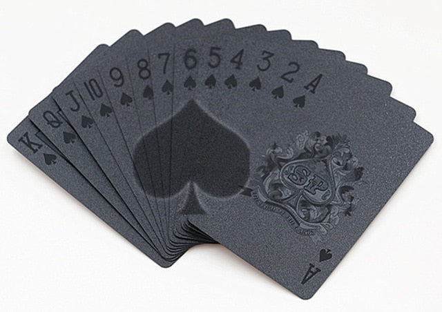 Waterproof Black Collection Playing Cards