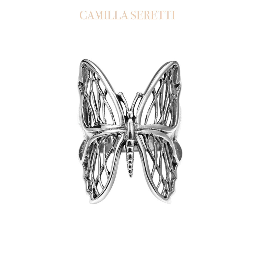 Brittney Butterfly Ring, Sterling SIlver