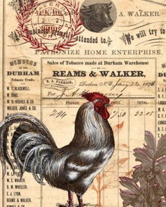 "RED ROOSTER Decoupage Paper  20"" x 30"""
