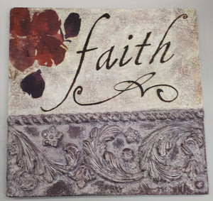 """Faith"" Art Tile"