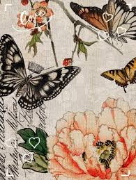 NEW   Butterfly Floral Decoupage Paper
