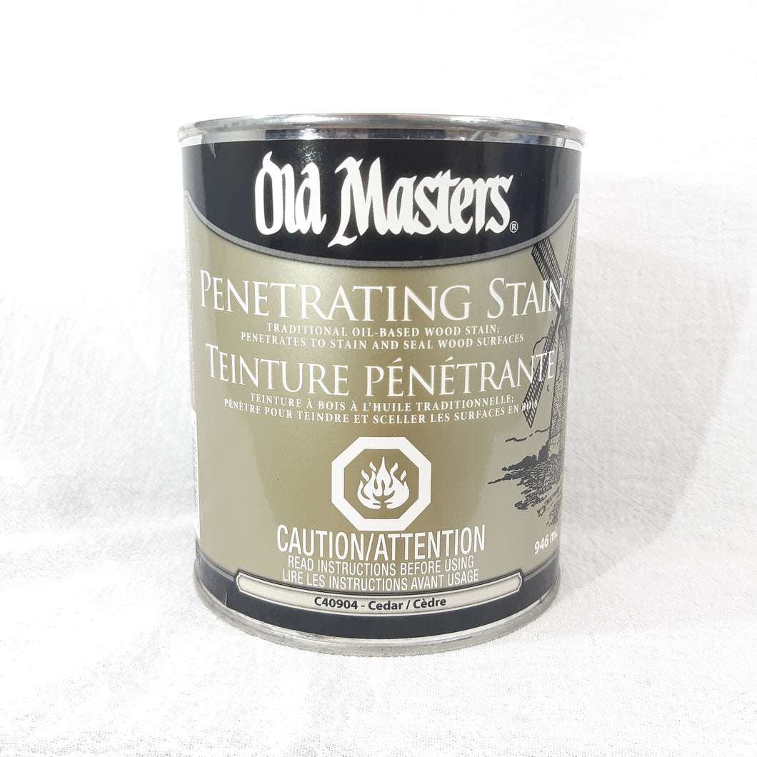 Old Masters Penetrating Stain - Cedar 946mL