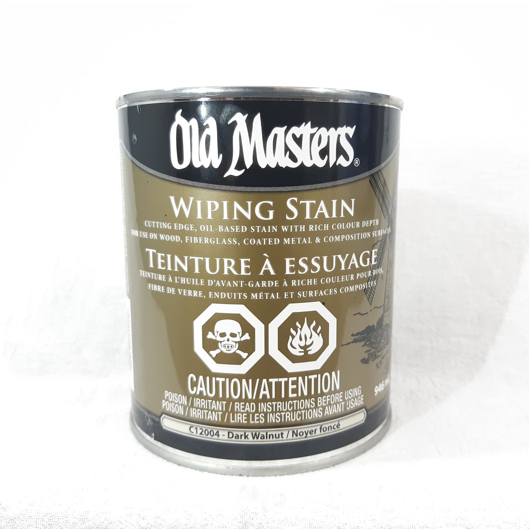 Old Masters Wiping Stain - Dark Walnut 946mL
