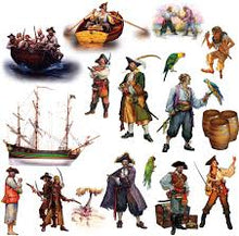 Load image into Gallery viewer, Pirates Peel & Stick Decor