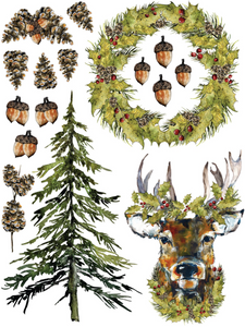 "Woodland Christmas IOD Transfer (12"" x 16 pad of 8 sheets"