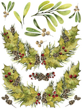 "Load image into Gallery viewer, Woodland Christmas IOD Transfer (12"" x 16 pad of 8 sheets"