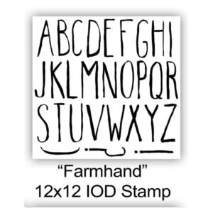 "FARMHAND IOD Stamp (12"" x 12"")"