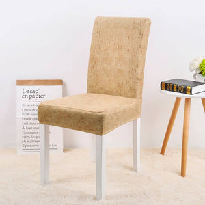 Solid Stretch Dining Chair Covers (Set of 4 or 6)- Brookry