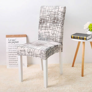 Printed Stretch Dining Chair Covers (Set of 4 or 6)