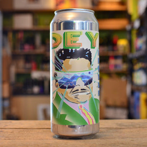 Deya I Am Locked Away in a High-Tech Wraparound Translucent, Blue Tinted Fortress Sour IPA