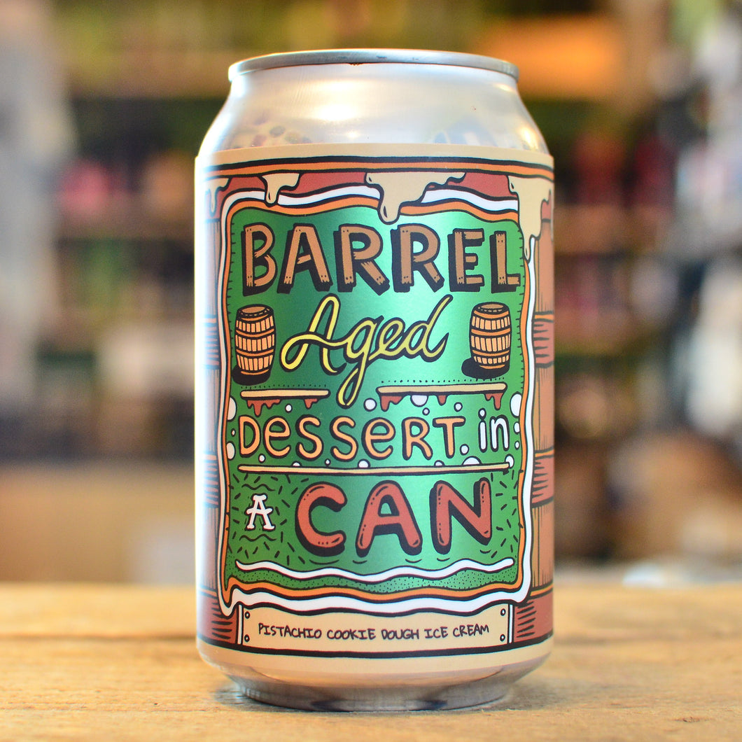 Amundsen Barrel Aged Dessert in a Can: Pistachio Cookie Dough Ice Cream 11.5%