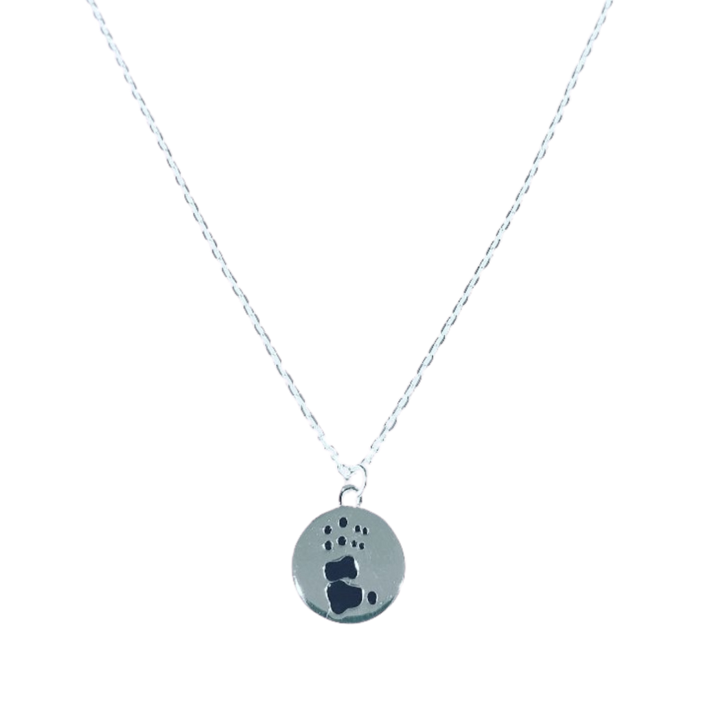 Koala paw print necklace