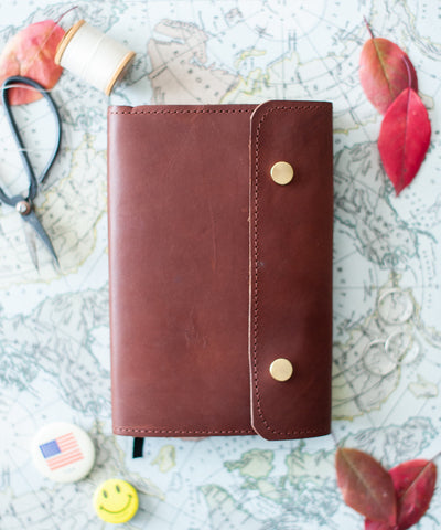 English Bridle Leather Bible Cover