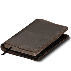 Open end leather bible cover