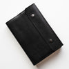 Black Leather Bible Cover - Dual Snap Closure - Made to Fit - Wax English Bridle