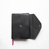 Black Leather Bible Cover - Single Snap Closure - Made to Fit - Wax English Bridle