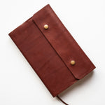 Brown Leather Bible Cover - Made to Fit - English Bridle