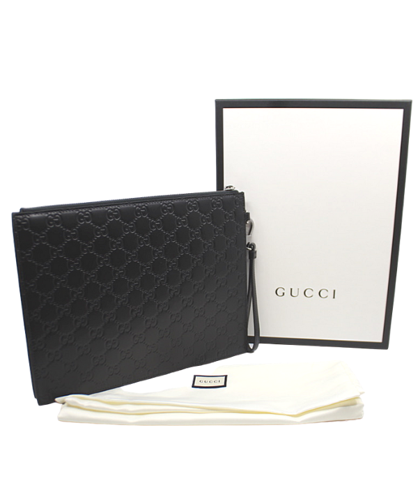 GUCCI SIGNATURE MENS FOLIO POUCH.