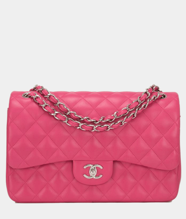 CHANEL CLASSIC DOUBLE FLAP JUMBO BAG FUCHSIA