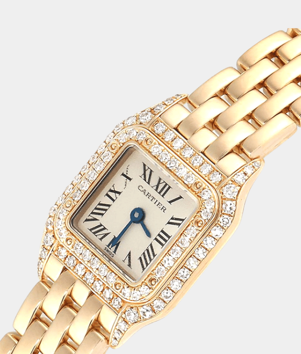CARTIER PANTHERE MINI SPECIAL EDITION YELLOW GOLD  LADIES WATCH.