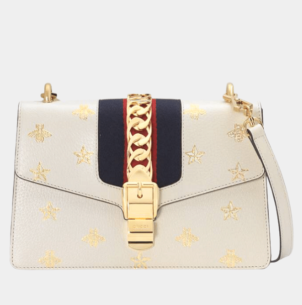 Gucci Sylvie Bee Star Small Leather.