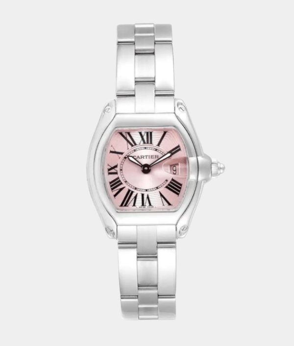 Cartier Roadster Quartz Pink Dial Ladies Watch
