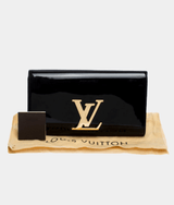 Louise Vuitton Louise EW Patent Leather Clutch