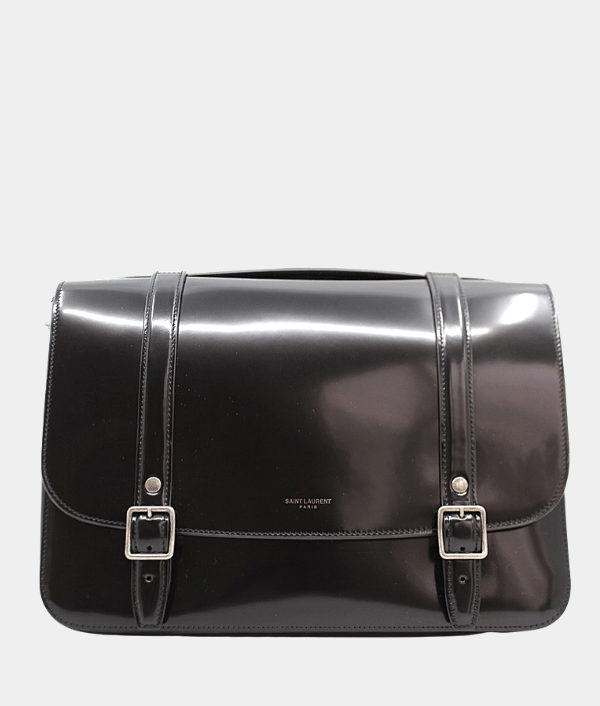 Saint Laurent M School Bag Patent Leather - New