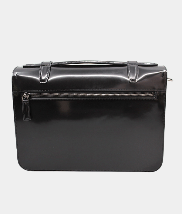 Saint Laurent M School Bag Patent Leather