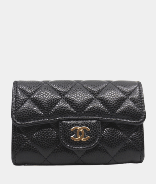 Chanel Classic Cardholder in black caviar