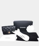 Chanel Classic BlackCardholder in blackcaviar leather BNWT