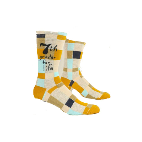 7th Grader for Life Men's Crew Socks