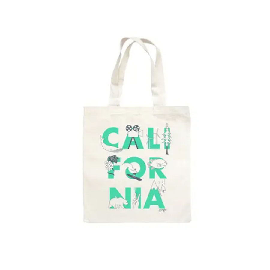 California Map Market Tote Bag