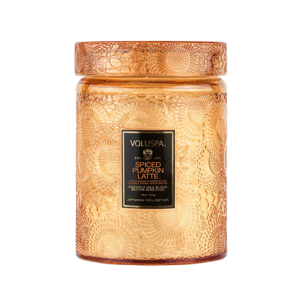 Spiced Pumpkin Latte Large Jar With Glass Lid Candle