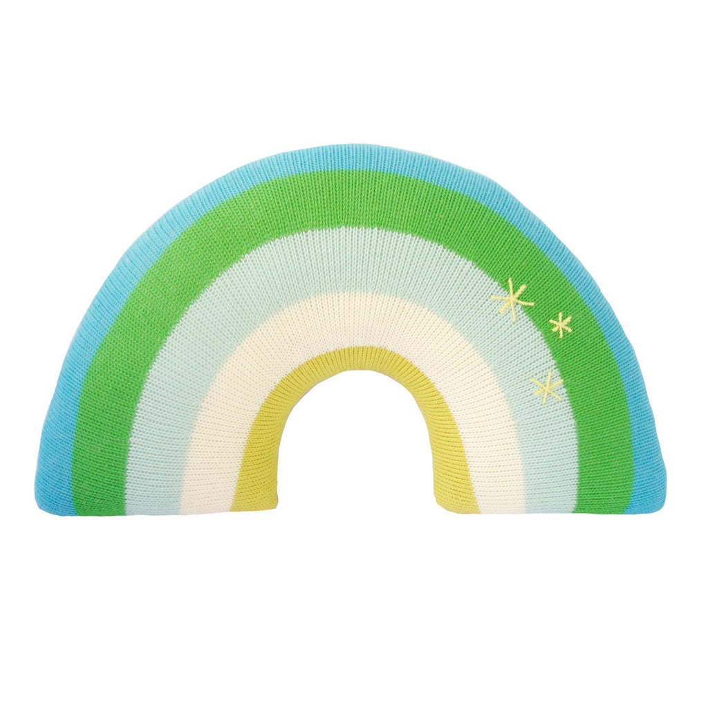 Spring Rainbow Kid's Knit Pillow