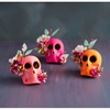 Sugar Skull with Flowers Table Decorations