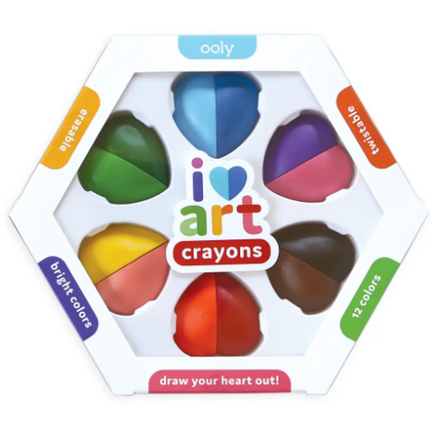 I Heart Art Erasable Crayons - Set of 6