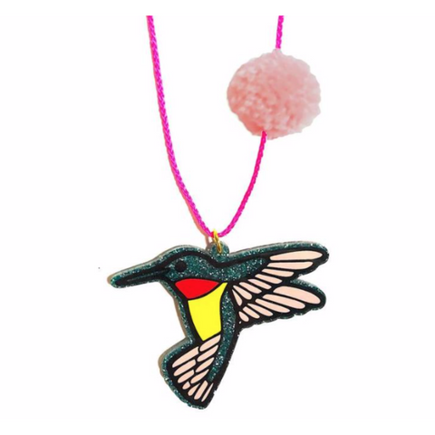Spring Hummingbird Necklace