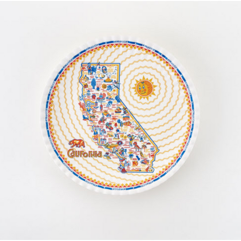 State of California Melamine Serving Platter