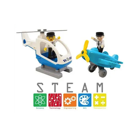 Airplane & Helicopter Builder Set
