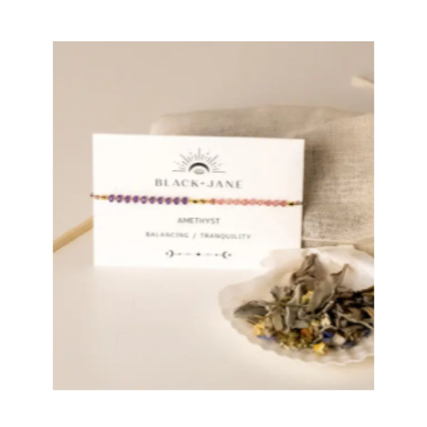 Good Vibes Amethyst Gemstone Bracelet