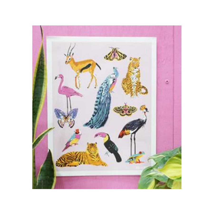 Jungle Animal Friends Art Print