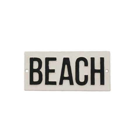 Beach Cast Iron Sign