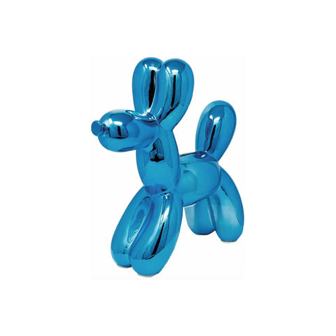 Blue Gloss Balloon Dog Coin Bank