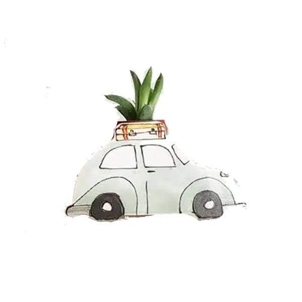 Vintage Mint VW Bug Planter