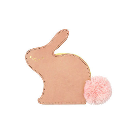 Leather Bunny Coin Purse